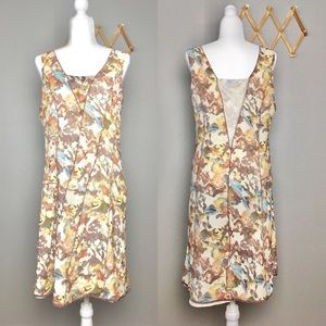 Sundance Silk watercolor Floral Lined Dress